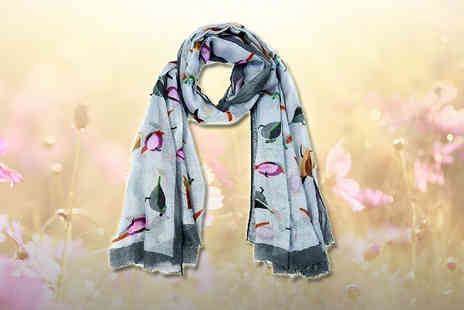 Headsgroup - Bird Print Scarf - Save 73%