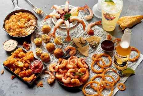 Bubba Gump Shrimp Co - Starter and main from a set pre theatre menu   - Save 45%