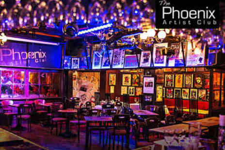 Phoenix Artist Club - Two Course Meal for Two Prosecco and Membership - Save 72%