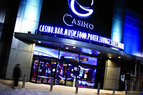 Grosvenor Casinos - Two course meal and bottle of wine for two with an enhanced bet, betting tuition and event entry   - Save 59%