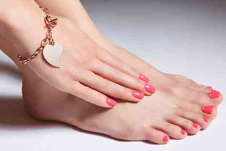 Anthony Green Hair and Beauty - Shellac Manicure, Pedicure or Both - Save 50%