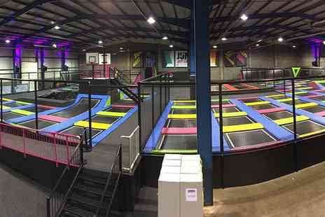 Jump Inc  - One Hour Trampoline Access with Sock Hire and a Hot Drink for One, Two or Four   - Save 39%