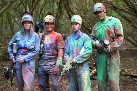 Skirmish Paintball Wycombe - Full Day Paintball with 100 Paintballs and a Hot Dog for 10 or 20 - Save 0%