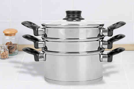 Urshu - Three Tier Steamer and Stock Pot - Save 70%