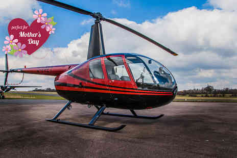 Flying Pig Helicopters -  15 minute Mothers Day introductory flight experience including a cupcake and flowers on 4th, 5th or 6th March   - Save 40%