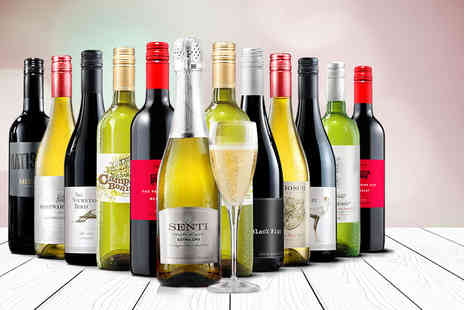 Virgin Wines  -   12 bottle selection of hand crafted boutique wines including a bottle of Prosecco   - Save 66%