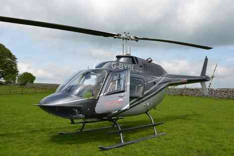 Adventure 001 - Manchester City Helicopter Tour with Sparkling Lunch for Two  - Save 0%