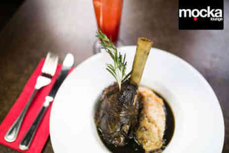 Mocka Lounge - Two Course Meal and Cocktails for Two - Save 53%