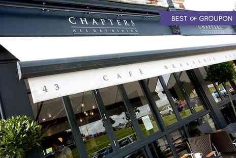 Chapters - Steak Meal, Wine and Coffee for One, Two or Four  - Save 44%