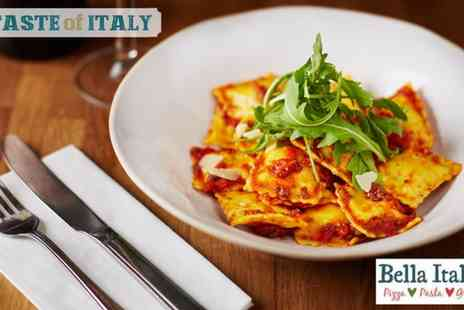 Bella Italia - Two Course Meal with Wine or Three Course Meal with Prosecco for Up to Six  - Save 53%