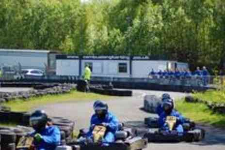 Cambuslang Karting - Outdoor go-karting session including instruction, racing, a buffet - Save 50%
