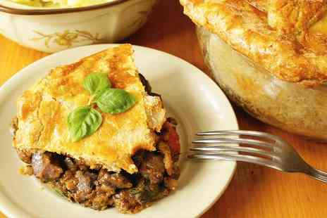 The Red Lion - Steak and Ale Pie with Beer or Wine for Two or Four  - Save 41%
