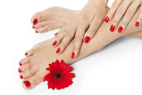 Hands Tanned - Shellac Manicure, Pedicure or Both  - Save 62%
