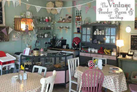 The Vintage Powder Room and Tea Shop - Afternoon Tea for Two - Save 0%