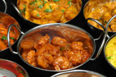 Clapham Tandoori - An Indian meal for 2 including a starter, main, side and a glass of wine or beer each - Save 55%