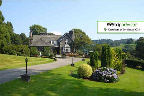 Broadoaks Country House - Overnight Windermere getaway for two including four course dinner, cream tea and spa access  - Save 42%