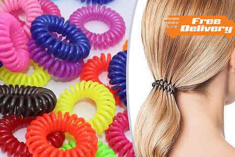 Beautyfit - Pack of 50 or 100 Anti Tangle Hairbands - Save 64%