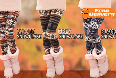 Beautyfit - Nordic Winter Leggings Available in Three Styles - Save 46%