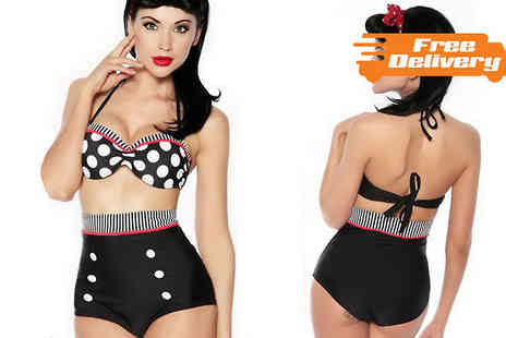 Beautyfit - High Waisted Bikini Available in Three Designs - Save 65%