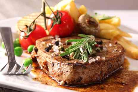 The Eight Bells - Steak Meal with All the Trimmings and a Glass of Wine or Pint of Beer for Two or Four  - Save 44%