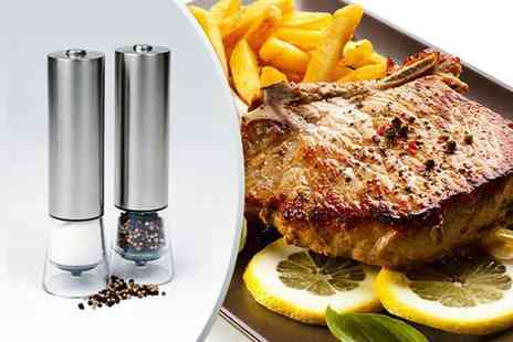 Jean Patrique - Pair of electronic salt and pepper mills - Save 87%