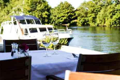 Buyagift - Three course meal for 2 including a Champagne cocktail each at the Michelin recommended Riverside Brasserie  - Save 51%
