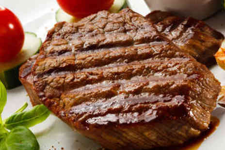La Maison - Steak Meal with Wine for Two - Save 52%
