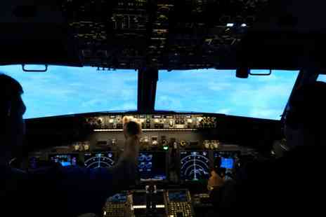 Jet Sim School - One Hour Boeing 737 Flight Simulator Experience - Save 60%