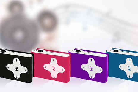 Tech Tronics - Aquarius MP3 Player with Optional 8GB Kingston SD Card available Four Colours - Save 63%