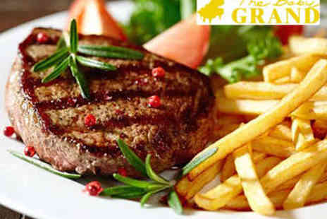 The Babygrand Restaurant - Steak Meal with Wine for Two - Save 53%
