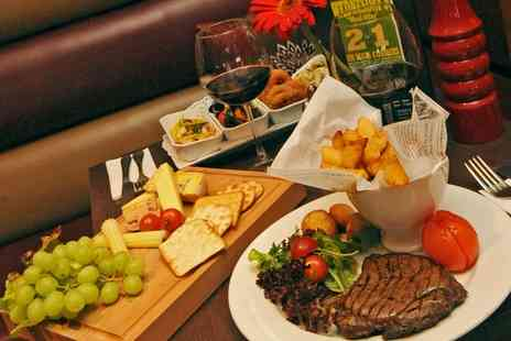 Vista Hotel - Steak Meal with Optional Wine or Beer for Two or Four - Save 47%