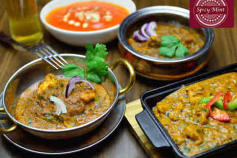 Spicy Mint - Indian Meal for Two with Sides - Save 0%