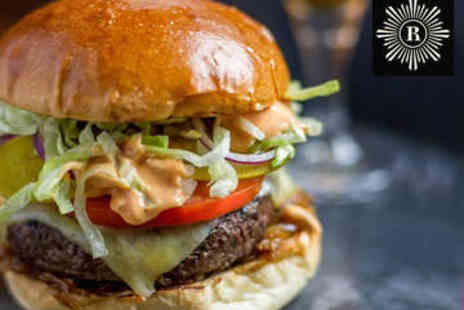 Revolution - Burger or Pizza with Cocktail Each for Two - Save 69%
