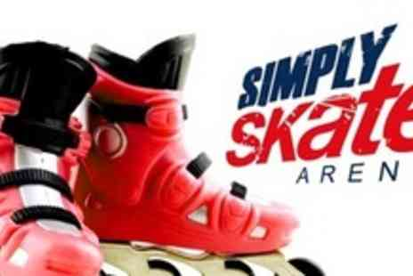 Simply Skate Arena - Inline Skating For Four People - Save 61%