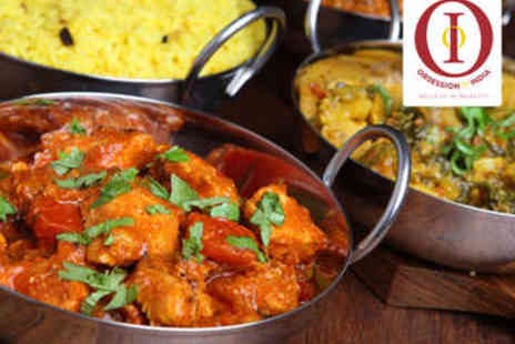 Obsession of India - Indian Meal with Wine for Two - Save 55%