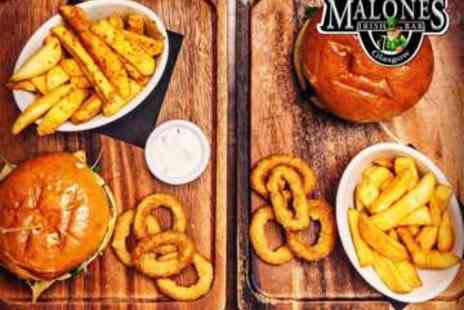 Malones Irish Bar - Two Course Meal with Guinness or Wine for Two - Save 50%