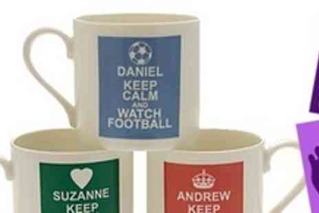 Footprint Direct - Two personalised Keep Calm mugs - Save 62%