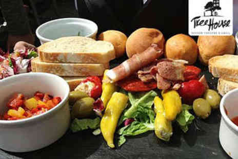 The Treehouse - Charcuterie Sharing Platter and Wine for Two - Save 44%