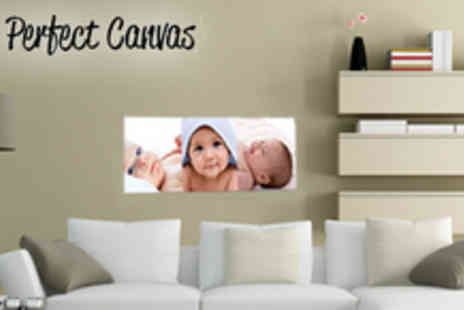 Your Perfect Canvas - 30 x 10 panoramic canvas - Save 76%