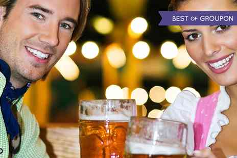 Bierkeller - Bavarian Meal with Pretzel, Beer and Shot for One, Two or Four - Save 50%