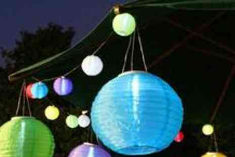 Festive Lights Ltd - Two Chinese Solar Lanterns in a choice of five colours - Save 62%