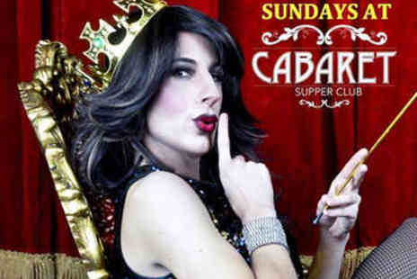 Cabaret Supper Club - Sunday Brunch with Cabaret and Prosecco for Two - Save 57%