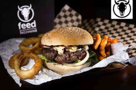 Feed - Burger, Side, and Drink for Two - Save 68%