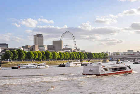 London Hilton - London Hilton Three Course Dinner with Cocktail and Thames River Cruise for Two - Save 0%