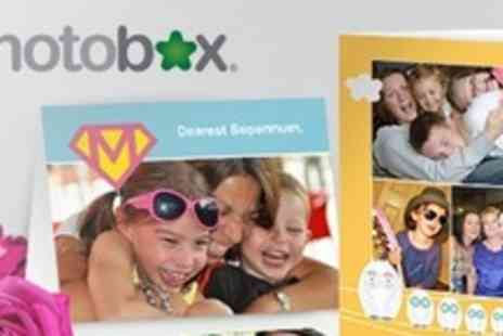 PhotoBox - Personalised Greeting Cards in Set of Ten - Save 60%