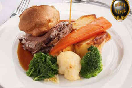 Derby Manor Hotel - Sunday Lunch for Two - Save 0%