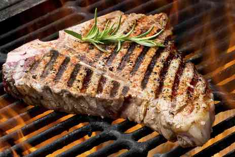 Deli Fuego - Hickory Smoked T Bone or Sirloin Steak Dinner For Two or Four  - Save 33%