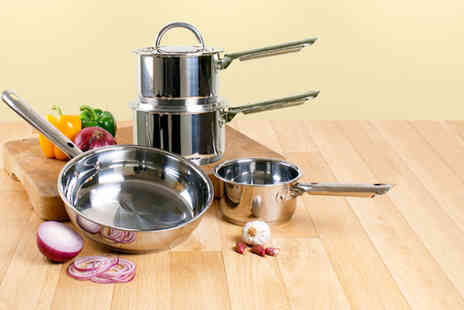 Jean Patrique - Six or Ten piece stainless steel cookware set  - Save 79%