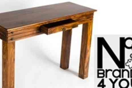 No1Brands4You - Hand Made Console Table One Jaipur Premium Sheesham Timber Table - Save 65%
