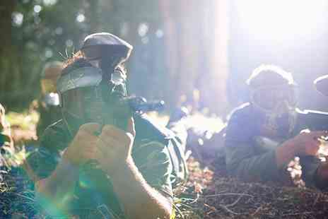 Unreal Paintball - One Day Paintballing with 200 Paintballs Each for Five, Ten, 15 or 20 - Save 93%